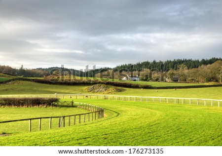 View of Cartmel Racecourse - stock photo