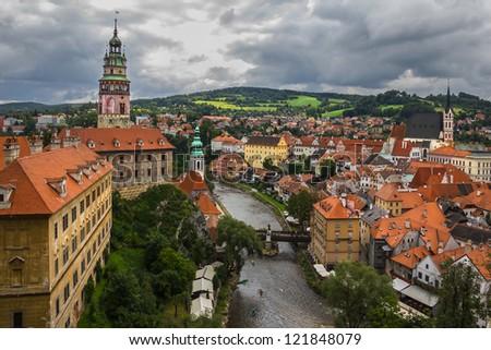 View of Cesky Krumlov, Czech Republic. - stock photo