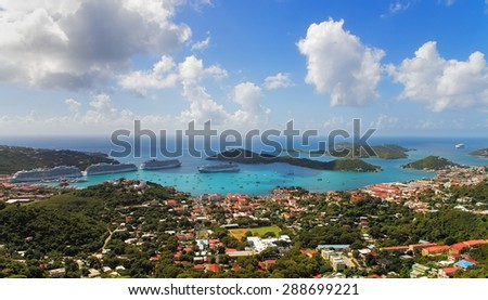 View of Charlotte Amalie on Saint Thomas Island