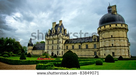 view of chateau de valencay, loire valley, France - stock photo