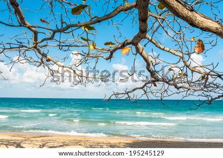 View of Chaweng Noi beach at Koh Samui Thailand  - stock photo