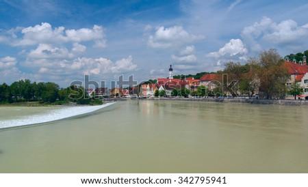 View of city Landsberg am Lech - stock photo