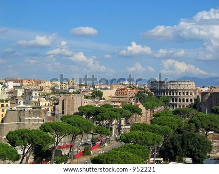 View of City of Rome, Italy - stock photo