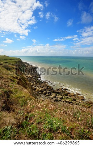 View of coast at Cap Gris Nez, France