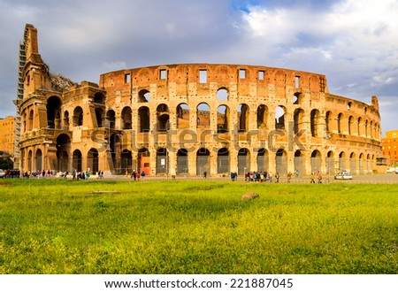 view of Colosseum, Rome, Italy
