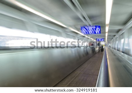 View of conveyor belt in the airport of Rome