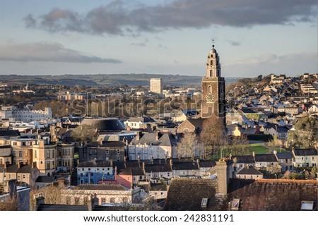 View of Cork City, Ireland. - stock photo