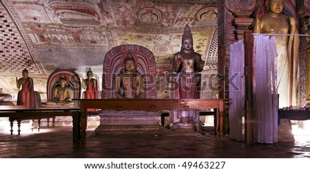 view of Dambulla - Cave temple - Sri Lanka
