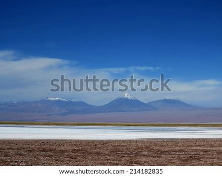 view of desert of atacama, chile - stock photo