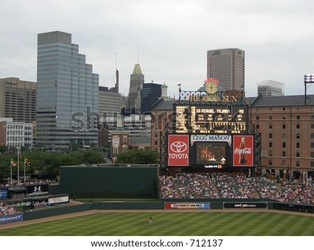 View of Downtown Baltimore from Camden Yards
