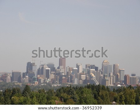 View of Downtown Calgary in Canada
