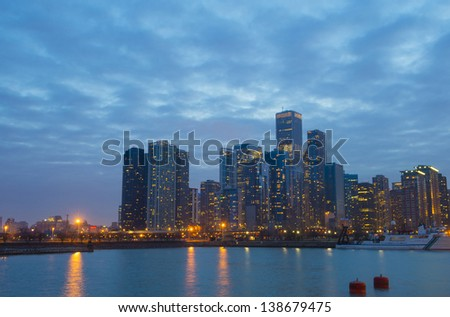 View of downtown chicago from the Navy Pier