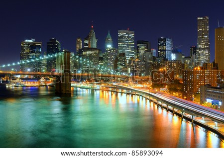 View of Downtown New York City - stock photo