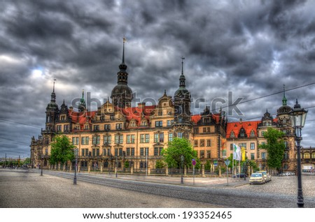 View of Dresden castle - Germany, Saxony - stock photo
