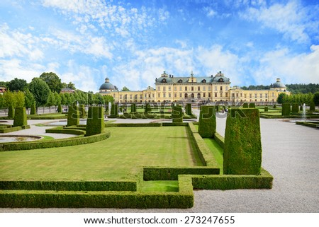 View of Drottningholm palace. Sweden - stock photo