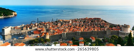 View of Dubrovnik. Croatia. - stock photo