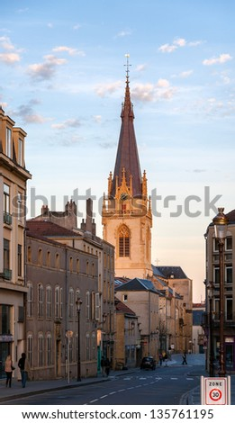 View of Eglise Saint-Martin de Metz - Lorraine, France