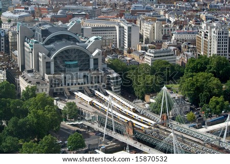 View of Embankment Station from London Eye
