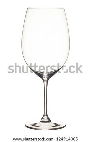 View of empty wineglass in a close-up image.