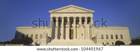 View of entire US Supreme Court Building, Washington DC