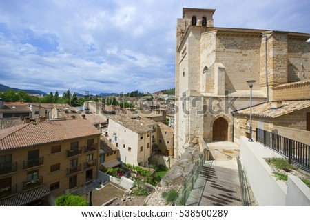 View of Estella.Navarre.Spain.the Pilgrim's Road to Santiago de Compostela