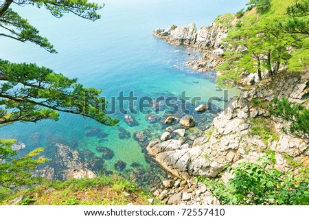 view of Far East Marine Reserve in Russian Primorye