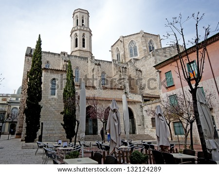 View of Figueres.Catalonia.Spain - stock photo