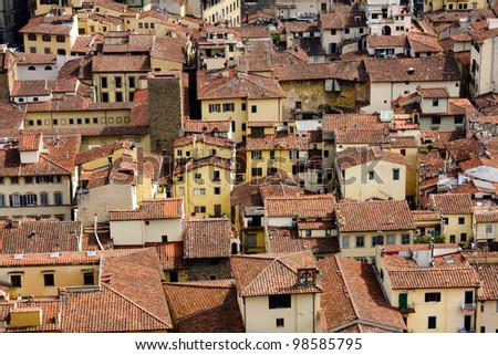 View of Firenze from Dome, Italy - stock photo