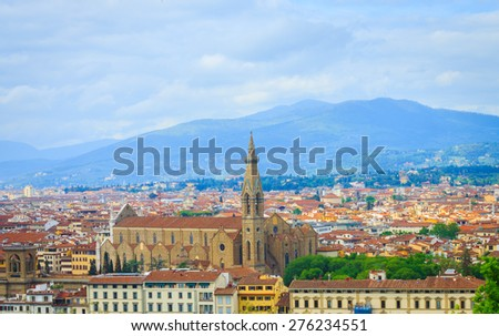 View of Florence of Tuscany, Italy.