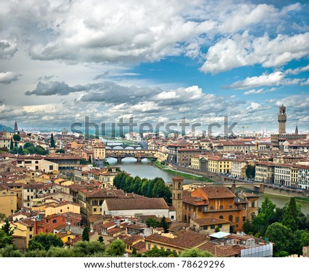 View of Florence, Tuscany, Italy - stock photo