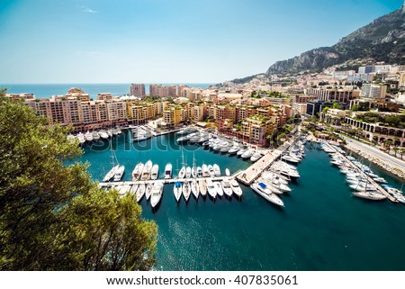 View of Fontvieille. Principality of Monaco - stock photo