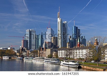 View of Frankfurt am Main, Germany - stock photo