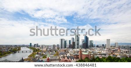 View of Frankfurt am Main skyline - stock photo