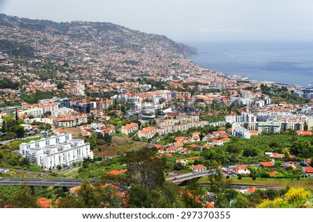 View of Funchal, Madeira island, Portugal - stock photo