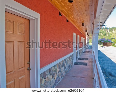 Motel building stock images royalty free images vectors for Motel exterior design