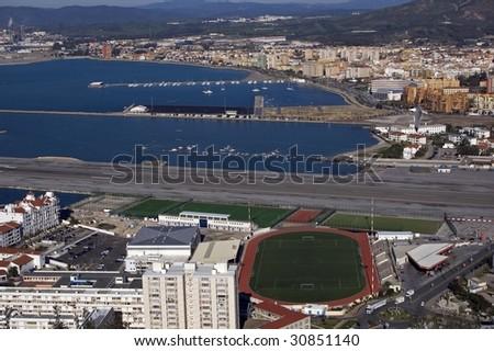 View of Gibraltar - stock photo