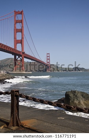 View of Golden Gate Bridge, San Francisco, from Fort Point