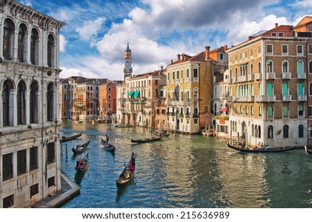 View of Grand Canal, Venice, Italy - stock photo