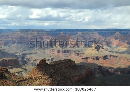 View of Grand Canyon National Park, Arizona US - stock photo