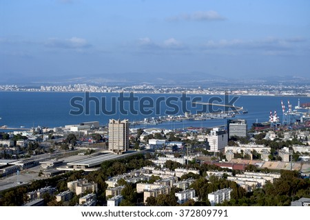 View of Haifa with the height