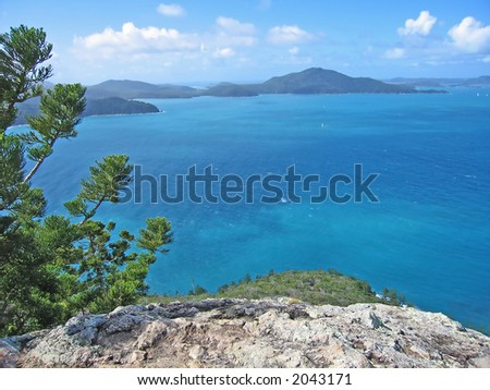 VIew of Hamilton Island (Queensland,  Australia) - stock photo