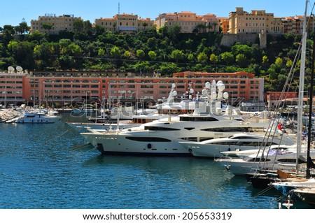 View of harbour in Monte Carlo, Monaco - stock photo