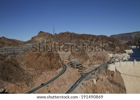 View of Hoover Dam - stock photo