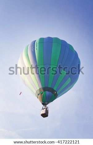 view of hot air balloon  - stock photo