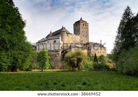 view of hrad kost castle - gothic castle in bohemia - Czech republic