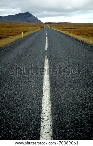 View of Iceland's RIng Road - stock photo