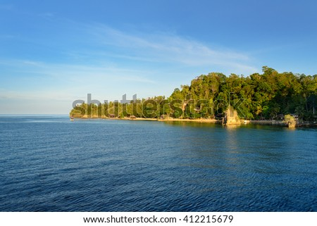 View of Kadidiri island. Togean Islands or Togian Islands in the Gulf of Tomini. Central Sulawesi. Indonesia