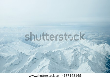 view of Karakoram in Ladakh, India