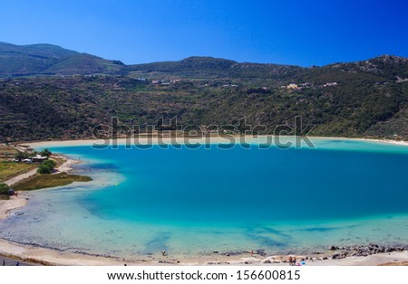 View of Lago di Venere in Pantelleria, Sicily - stock photo