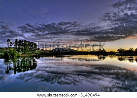 View of Lake Burley Griffin, in Canberra, capital of Australia - stock photo